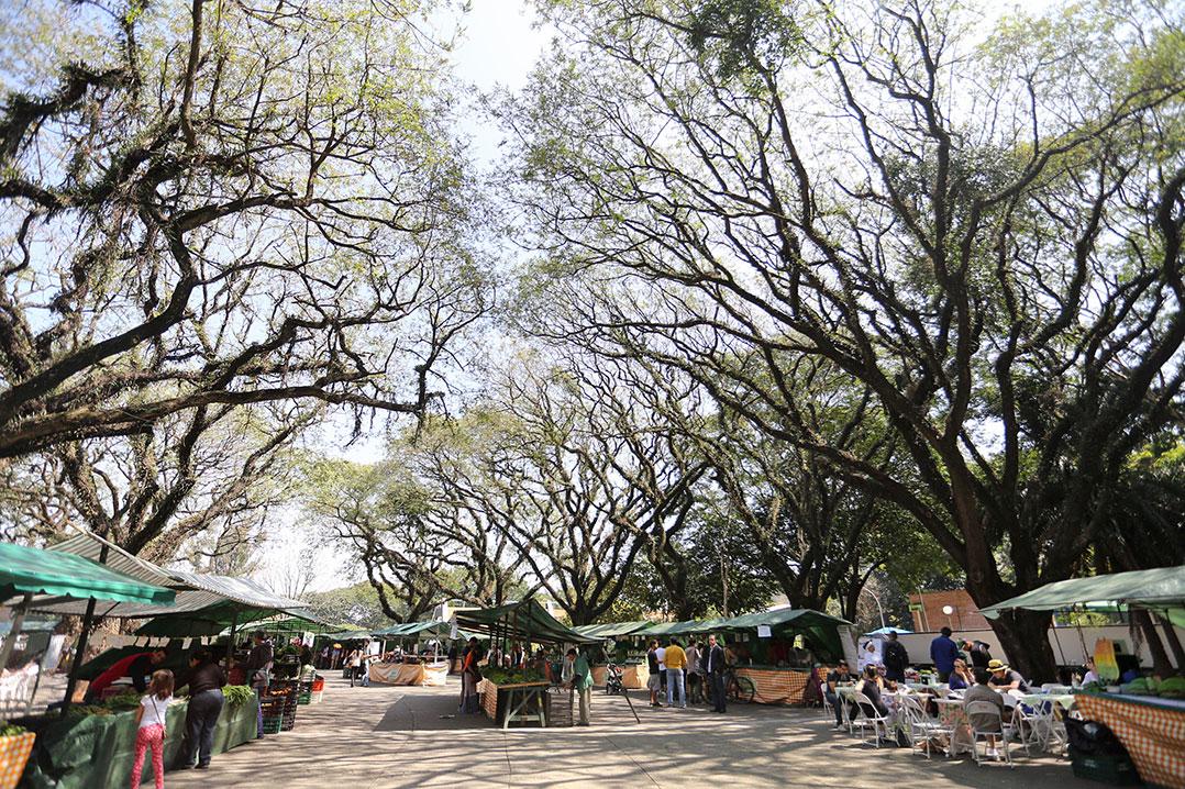 Feira de Orgânicos do Centro Esportivo do Modelódromo, na região do Parque Ibirapuera, na zona sul de São Paulo. Foto: Fábio Arantes/Fotos Públicas