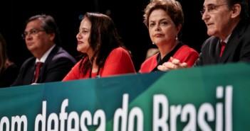 Nova presidenta do PCdoB, Luciana Santos, e a presidenta da Republica, Dilma Rousseff, durante Conferência Nacional PCdoB, em maio. Foto: Tom Dib/ Criadores de Imagens/ PCdoB