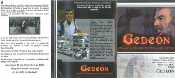 Propaganda da campanha Campanha Fogueira Santa de Israel na Fé de Gideão (Foto: Ciper)