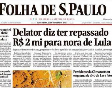 Próprio Ombudsman da Folha confirmou que manchete era mentirosa