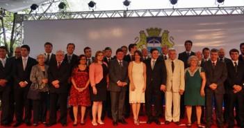 Posse do secretariado de Geraldo Julio em 2013: dezessete homens e apenas cinco mulheres