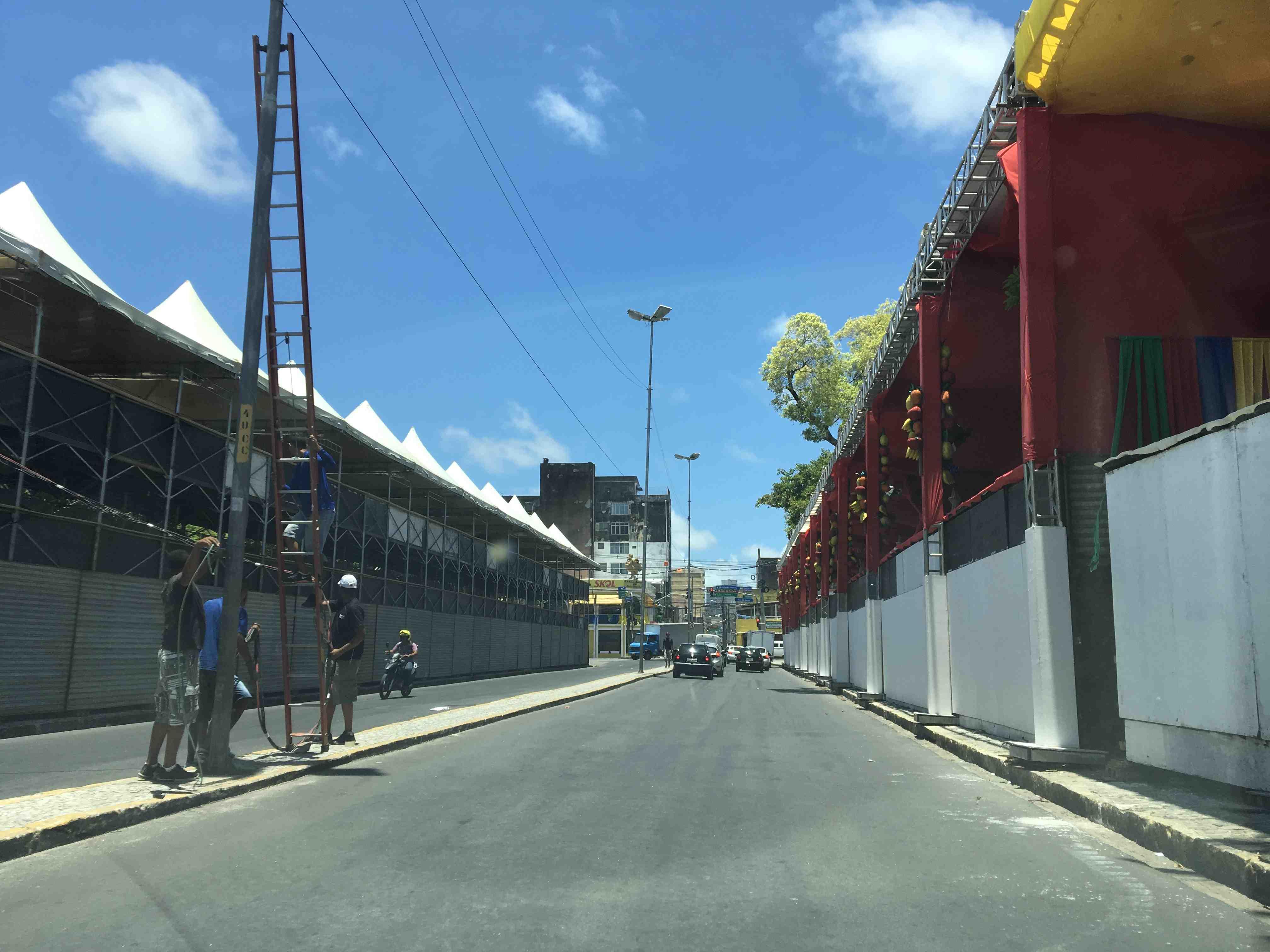 Camarotes do Galo da Madrugada, na Praça Sérgio Loreto