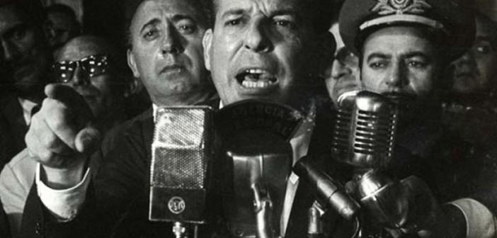 Jango discursa no Automóvel Clube, no Rio de Janeiro, em 30 de março de 1964 (Foto: Divulgação/Dossiê Jango)