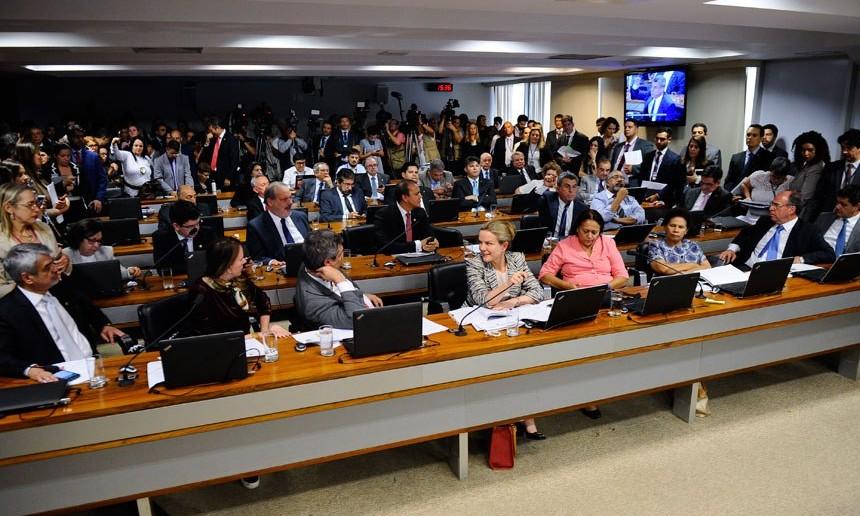Reunião da Comissão de Assuntos Econômicos em que seria lido o relatório sobre a reforma trabalhista Marcos Oliveira/Agência Senado