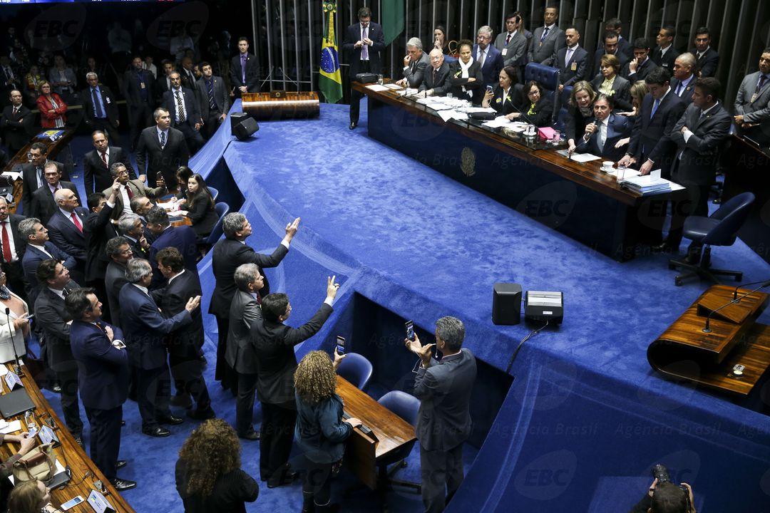 Plenário do Senado Federal durante sessão de votação da reforma Trabalhista. Foto: Agência Brasil