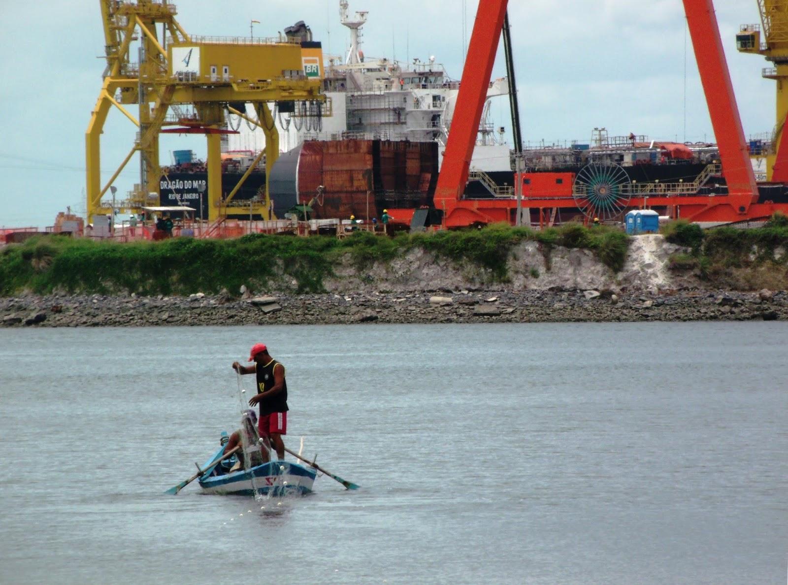 Relatório aponta impacto negativo do Compexo de Suape sobre as comunidades pesqueiras da região Foto: Méle Dornelas
