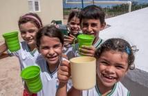 Cisterna em uma escola no município de Caraubas (RN) Foto: Ana Lira