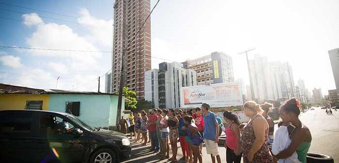 Protesto na comunidade Pocotó