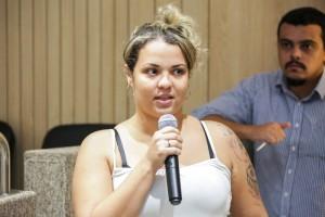 Jessika Alves, acompanhou Remís à delegacia quando ela foi prestar queixa contra o namorado