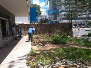 Tapumes começaram a ser colocados nesta sexta-feira. Foto: Fabiana Moraes
