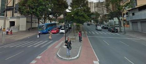 Exemplo de faixa descontínua em Belo Horizonte (MG)