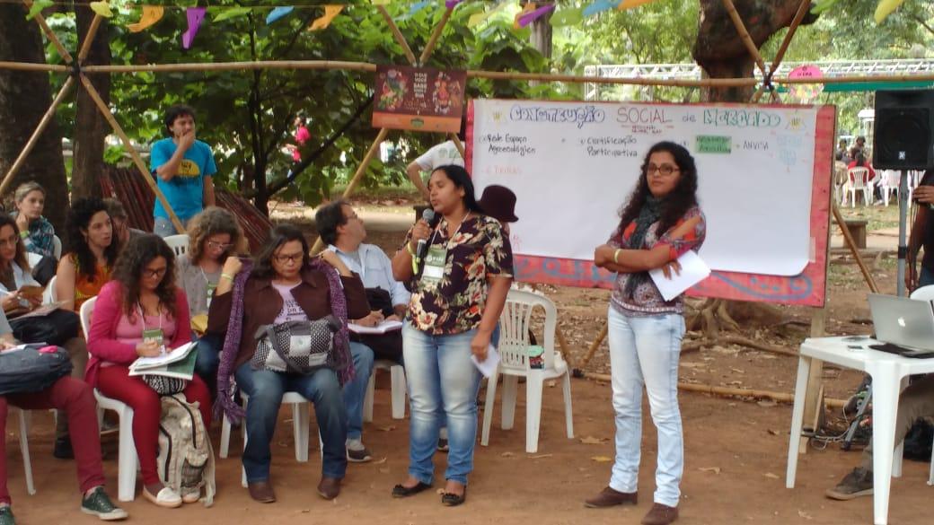 Agricultoras pernambucanas apresentam projeto das frutas orgânicas do Recife. Foto: Inácio França/MZ Conteúdo