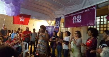 Candidatas do Elas por elas cobram verbas. Foto: Maria Carolina Santos/Marco Zero Conteúdo