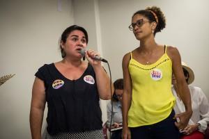 Carol Vergolino (preto) e Jô Cavalcanti. Foto: Inês Campelo/MZ Conteúdo