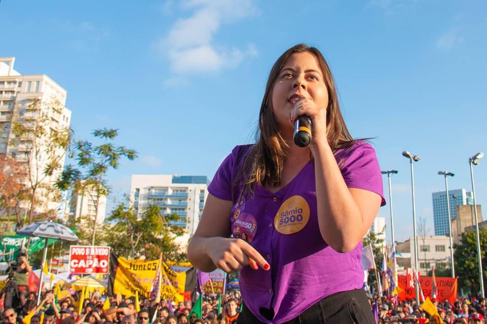 Sâmia Bomfim (PSOL/SP) será uma das cinco deputadas federais de seu partido na próxima legislatura. Foto: Divulgação