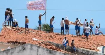 Registro da rebelião de Alcaçuz, em janeiro de 2017 (foto: Andressa Anholete/AFP)
