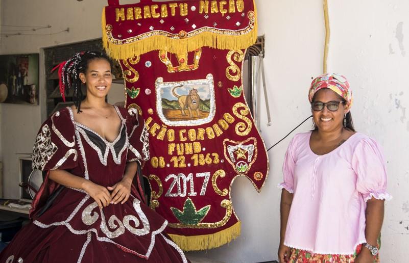Karen e Karina Aguiar, do Leão Coroado. Foto: Inês Campelo/MZ Conteúdo