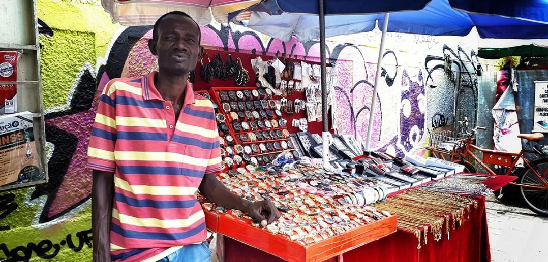Papa Saliou, migrante senegalês. Fotos: Inês Campelo