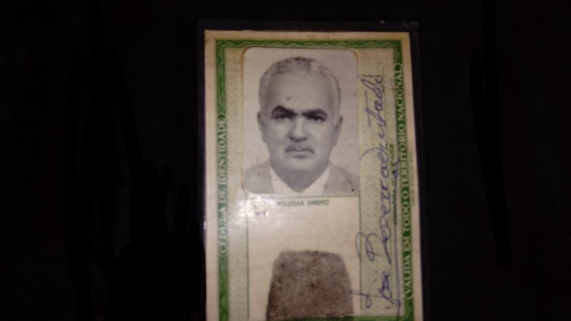 Registro da carteira de identidade ado preso político José Bezerra / Arquivo Pessoal