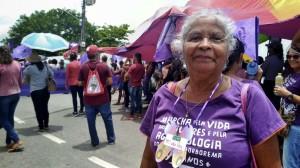 Maria da Paz, aposentada e integrante do grupo de mulheres do CRAS de Lagoa da Roça (PB). Crédito: Helena Dias/MZ Conteúdo