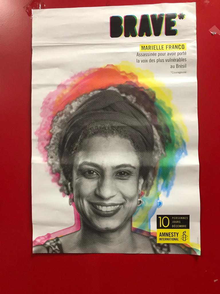 cartaz evento Marielle em Paris