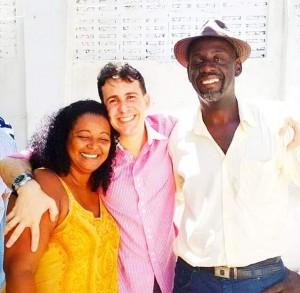 Dalva, Carraly e Marcelo. Foto: Arquivo pessoal