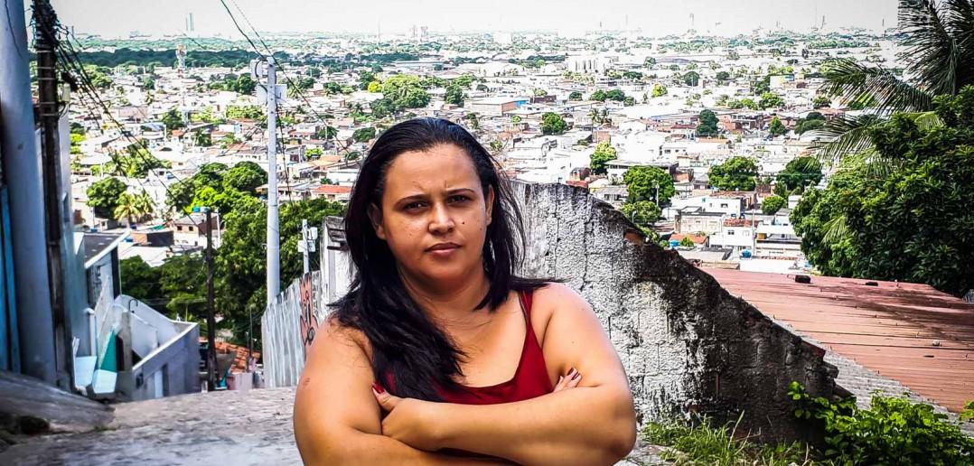 Andréa, moradora do Ibura. Foto: Inês Campelo/MZ Conteúdo