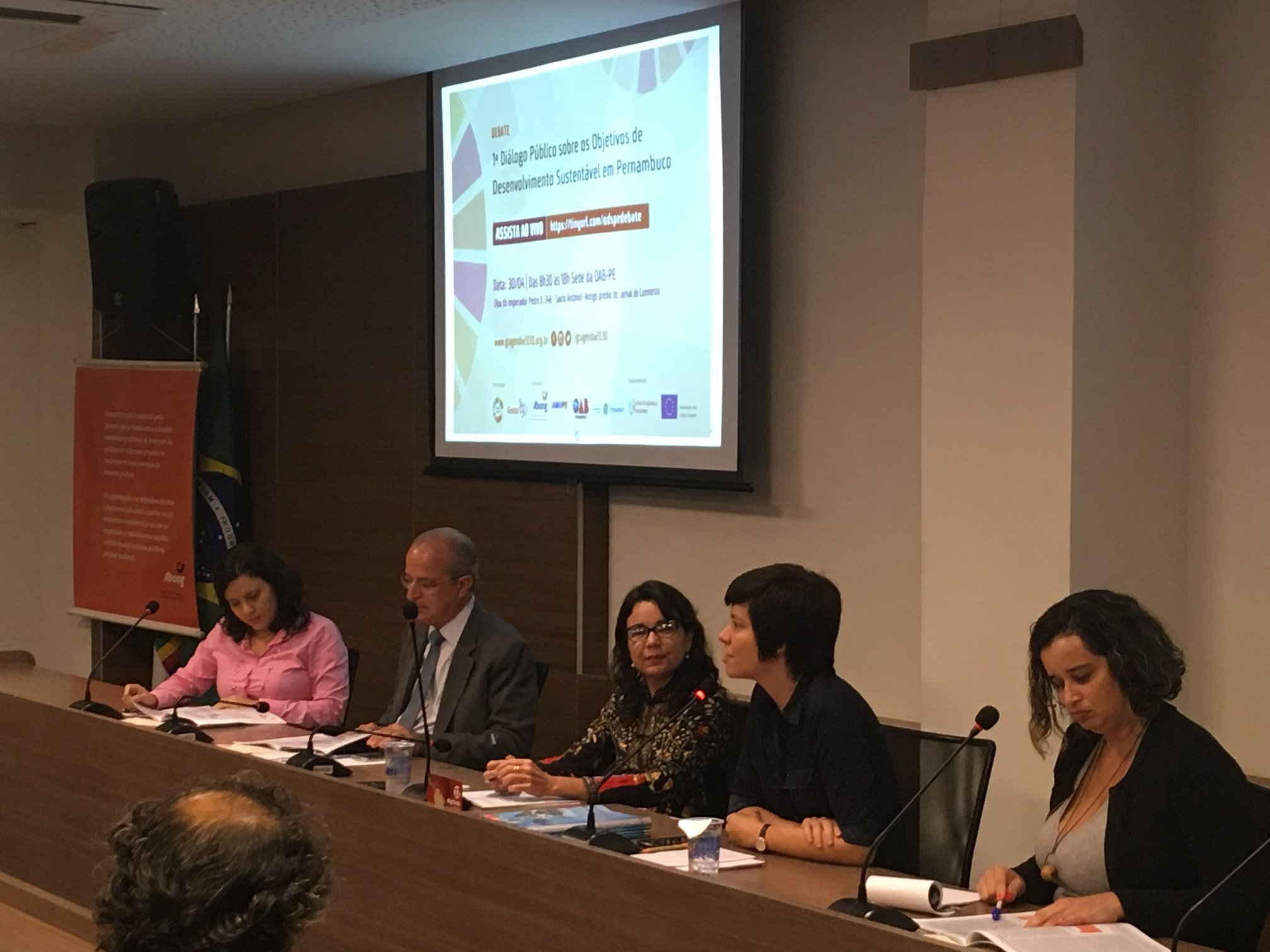 Debate promovido na OAB pela Gestos para a Agenda 2030 e o acesso à Justiça
