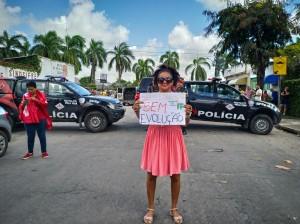 Manifestantes presentes na visita de Jair Bolsonaro ao Recife_ (1)