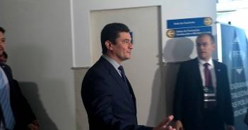 Sérgio Moro deixando a Seplag. Foto: MCS/MZ