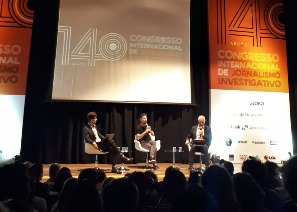 Leandro Demori no Congresso da Abraji (Crédito: Inês Campelo/MZ Conteúdo)