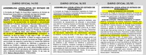 Publicação no Diário Oficial e retificações no edital.