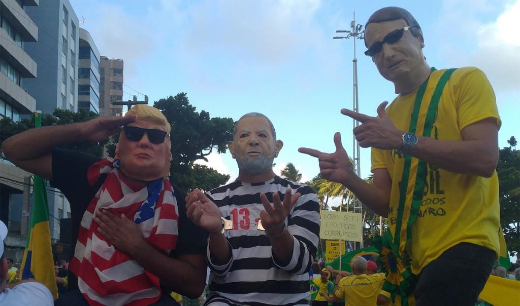 Trump e Lula, em polos opostos, também foram personagens no ato