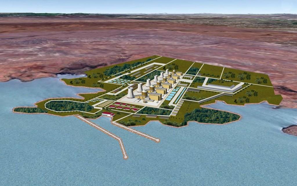 Projeção da Eletronuclear, feita em 2011, para a usina em Itacuruba.