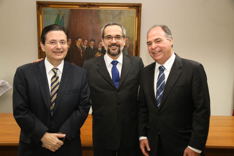 Antônio Campos, Abraham Weintraub e Fernando Bezerra Coelho (Reprodução Internet)