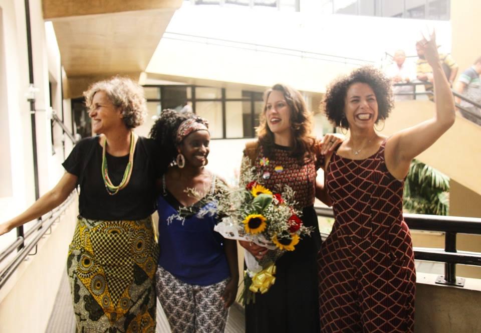 Gabinetona hoje: Cida, Andréia, Bella e Áurea. Foto: Fernando Olze/Divulgação