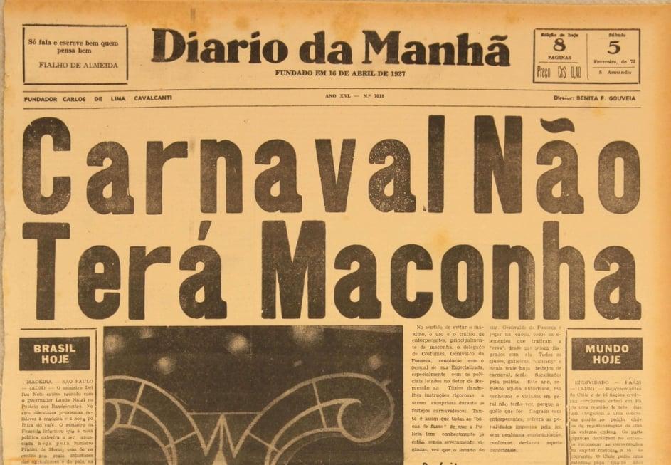 diariodamanha Cadê a massa? Explicações para um carnaval (quase) sem maconha em Pernambuco