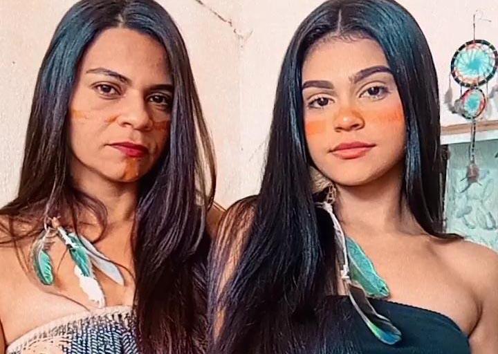 Maria Adriana Cordeiro de Melo e a filha Jenifer Adalice Cordeiro de Melo