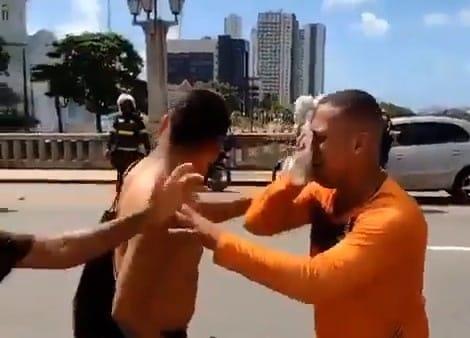 Jonas Correia, de 29 anos, foi mais uma das pessoas atingidas por uma bala de borracha disparada por policiais do Batalhão de Choque no ato deste sábado, 29 de maio