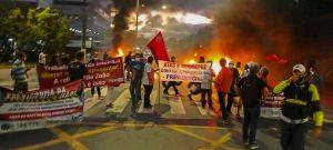 Protesto contra reforma da previdência no Recife