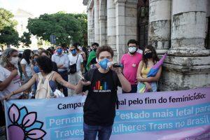 Ato contra trasnfobia no Recife
