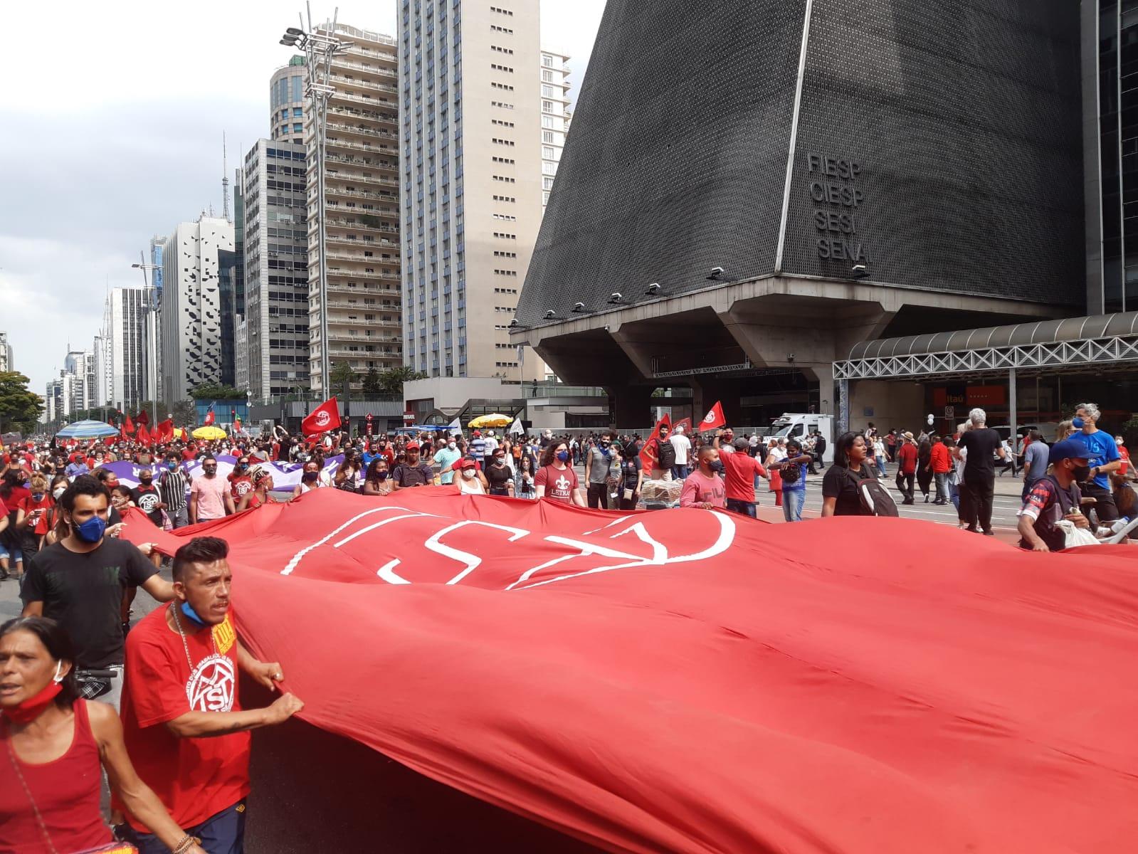 Protesto fora Bolsonaro em São Paulo
