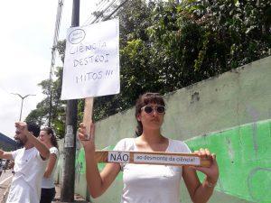 Protesto contra desmonte da ciência nas universidades federais