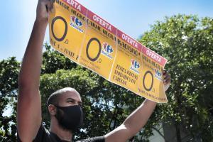 Ato contra o racismo do Carrefour, no Recife, dia 21 de novembro de 2020. Foto: Rafaella Gomes